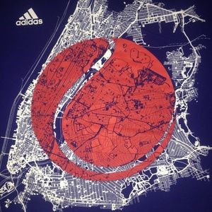 Adidas US Open Tennis NYC XL Blue Tshirt